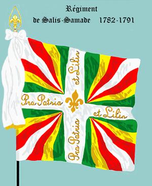 Honneur et Fidélité - Regimental colors of the Régiment de Salis (1782)