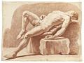 Rödkriteteckning på naken man, 1760-tal - Skoklosters slott - 99371.tif