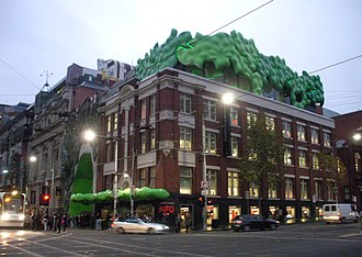 "RMIT University - The ""green brain"" of Building 22 (Singer Building) on the Melbourne City campus"