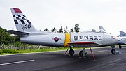 ROKAF F-86F(25-917) right rear view at Jeju Aerospace Museum June 6, 2014.jpg