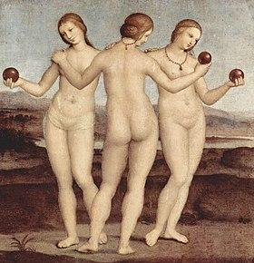 Les Trois Grâces, par Raphaël (1504–1505)