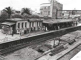 Hurstville railway station - The station during construction of the shopping centre