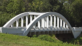 National Register of Historic Places listings in Cherokee County, Kansas - Image: Rainbow Curve Bridge 2006 07 03
