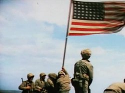 קובץ:Raising the Flag on Iwo Jima (color).ogv