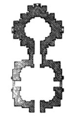temple plan for twin spires of a temple