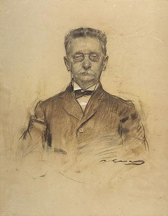 Lluís Domènech i Montaner - Domènech i Montaner seen by Ramon Casas (MNAC)