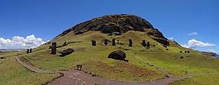 volcano in Easter Island