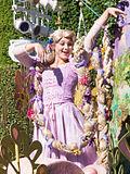 Rapunzel in parade at Disneyland 2014.jpg