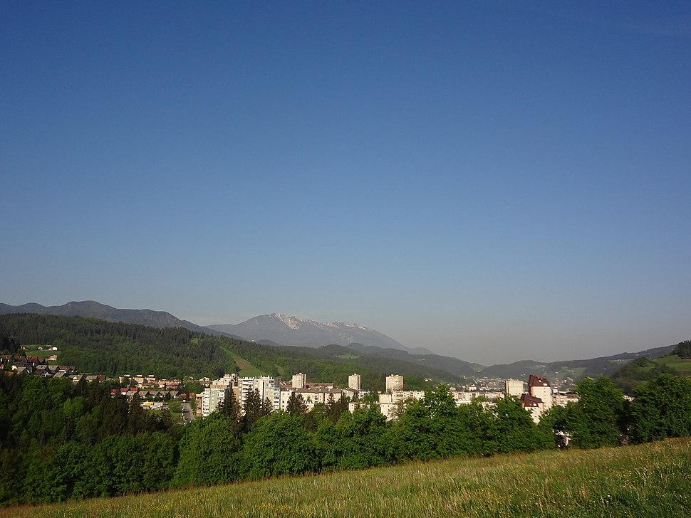 Typical Lower Carinthian landscape in Ravne na Koroškem.