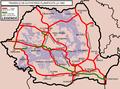 Rețeaua de autostrăzi planificată la 1969 și rețeaua construită în momentual actual..png