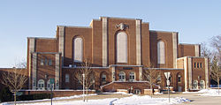 Rec Hall in the Winter
