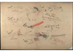 Red Horse pictographic account of the Battle of the Little Bighorn, 1881. 0200