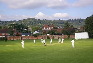 Reigate Priory Cricket Club Ground - Image: Reigate Priory Cricket Ground geograph.org.uk 1091935
