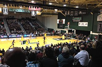 Reitz Arena - Loyola Greyhounds v. Siena Saints, Reitz Arena, Friday, February 8, 2013.