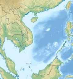 Mapa lokalizacyjna Morza Południowochińskiego