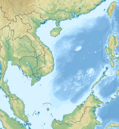 Location of the collision in the South China Sea