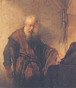 Rembrandt, St. Paul at his Writing-Desk, close-up.jpg