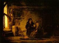 Rembrandt (en atelier) - Tobias en Anna met het bokje (1645).jpg