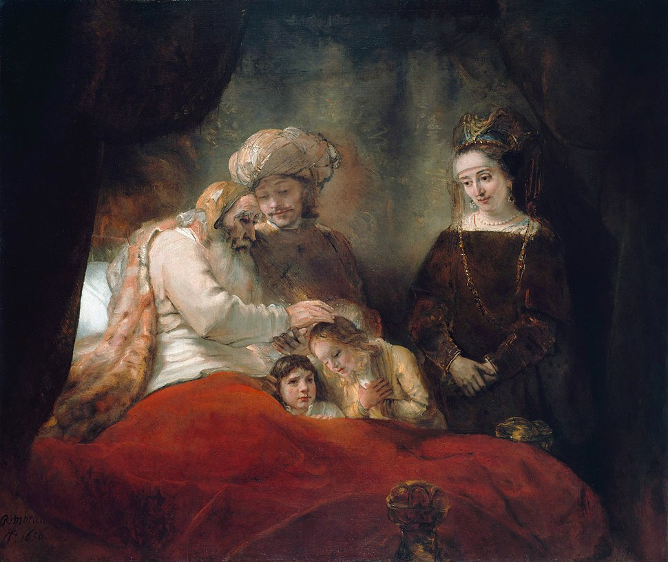 Rembrandt - Jacob Blessing the Children of Joseph - WGA19117