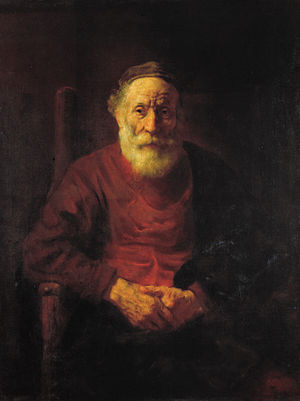 Chiaroscuro - An Old Man in Red, by Rembrandt