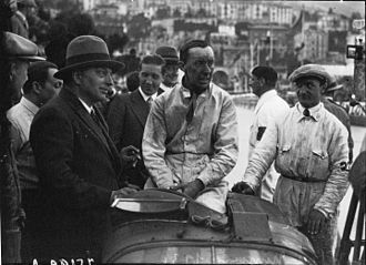 1930 Monaco Grand Prix - René Dreyfus after winning the race