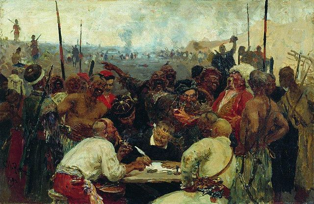 File Reply Of The Zaporozhian Cossacks Sketch 1880s