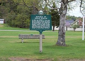 Republic of Indian Stream - New Hampshire historical marker for the Republic of Indian Stream