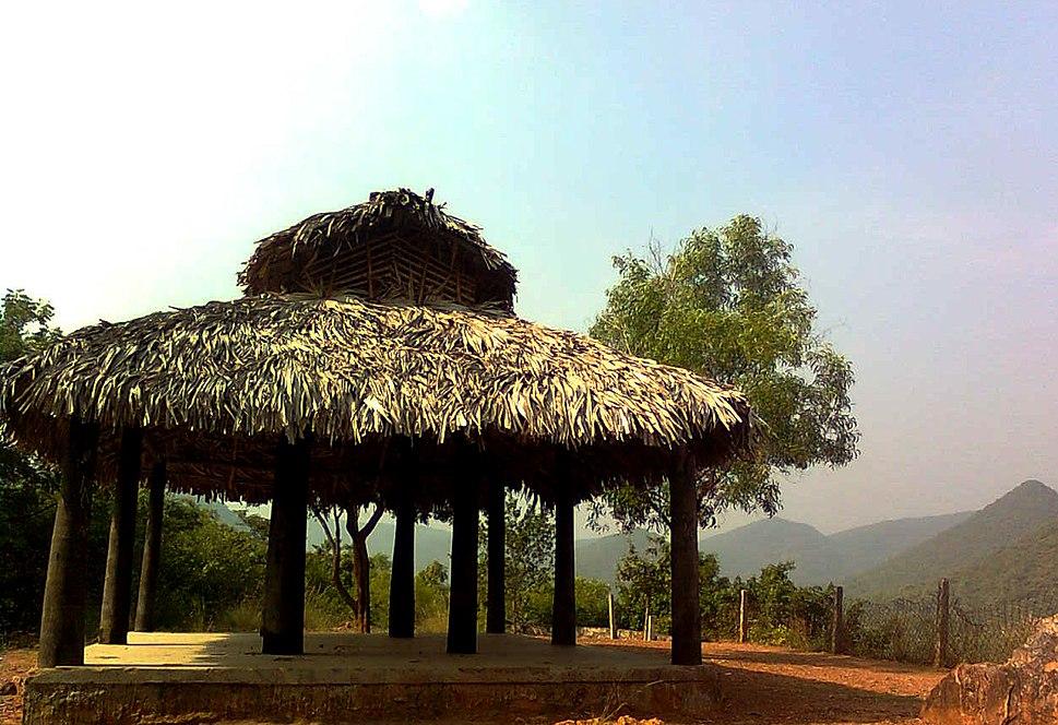 Resting hut kambalakonda eco park Visakhapatnam