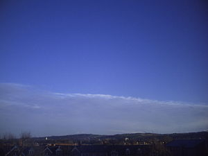 Cold front - A retreating cold front with clear air behind