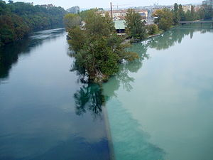 Arve - Image: Rhône and Arve Junction