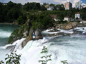 Neuhausen am Rheinfall - Neuhausen as seen from Rhine Falls