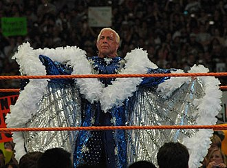 WrestleMania XXIV - Ric Flair before his last WWE match at WrestleMania XXIV