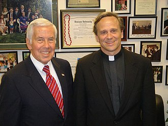 John I. Jenkins - Jenkins with Richard Lugar in 2005