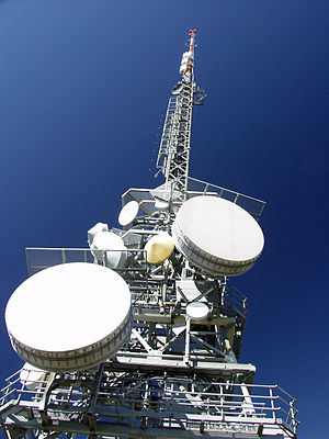 Microwave Radio Relay Tower On Cimetta Mountai