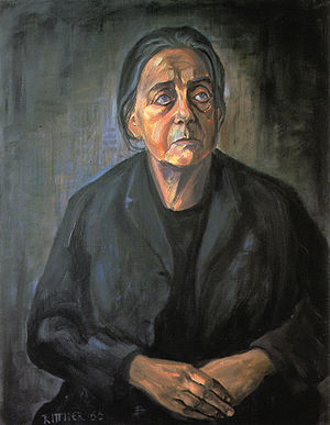 Mother Courage and Her Children - Therese Giehse as Mother Courage by Günter Rittner