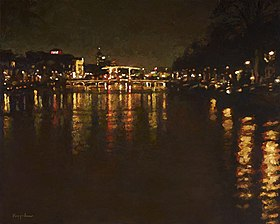 River Amstel by Night - Frans Koppelaar.jpg