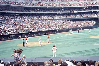 1978 Cincinnati Reds season - Reds vs. Giants at Riverfront Stadium, 1978. This was the 25th game of Pete Rose's 44-game hitting streak.