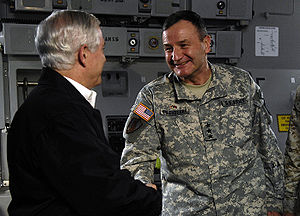 Robert Gates and Karl Eikenberry, Bagram.