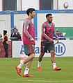 Robert Lewandowski Corentin Tolisso Training 2019-04-10 FC Bayern Muenchen-1.jpg