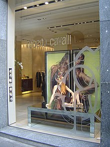 8edd7523ca A fashion design boutique by Christian Lacroix · Roberto Cavalli boutique  in Via della Spiga, Milan