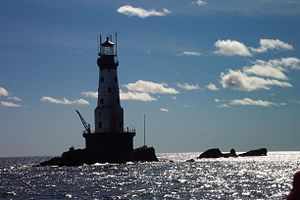 Rock of Ages Light - Viewed from the Wenonah, September, 2006