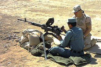 Gendarmerie - A Romanian Gendarmerie instructor (right) in a training mission with a member of the Afghan National Police