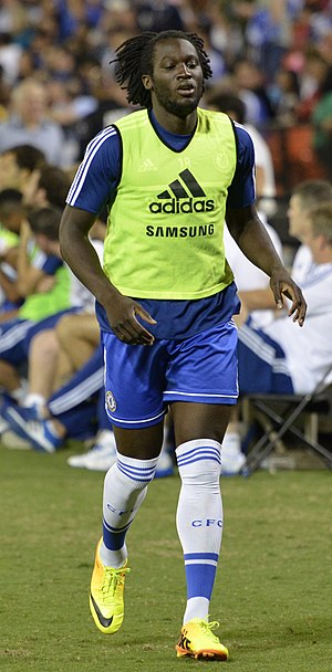 Romelu Lukaku - Lukaku warming up for Chelsea in 2013
