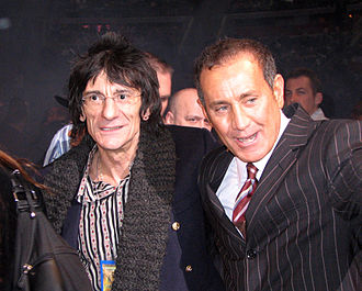 Ronnie Wood - Wood with promoter Joseph Donofrio, 2006.