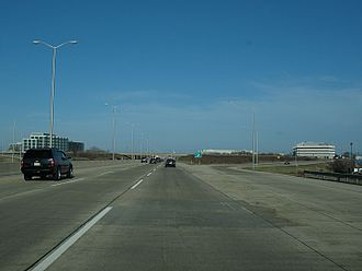 Interstate 88 (Illinois) - Ronald Reagan Memorial Tollway in Naperville, heading east