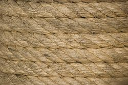 Closeup of rope.