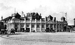 Rostock Hauptbahnhof - Northern entrance in 1920