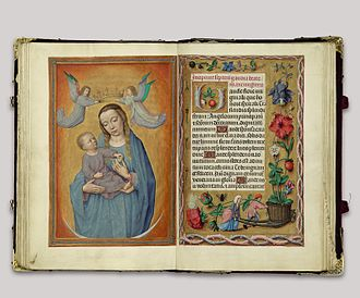 Gerard David - Virgin and Child on a Crescent Moon in the Rothschild Prayerbook, c. 1500–20
