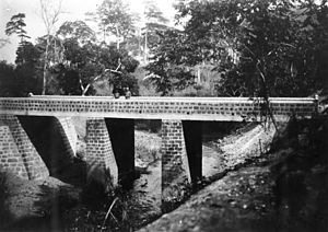 Batangafo - Bridge on the route between Bangui and Batangafo.