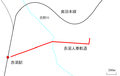 Route map of Akayu Jinsha Tramway.png